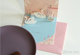 psn cards Australia - love88 gilt birthday card watercolor blessing Sika deer can be customized general valentine's day card teachers' day cute88