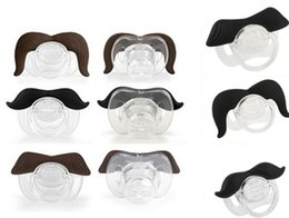 quality mustache 2018 - 6 Stile Safe Quality Baby Funny Pacifier Mustache Pacifier Infant Soother Gentleman bpa Baby Feeding Products cheap qual