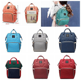 Wholesale 14 Colors New Multifunctional Baby Diaper Backpack Mommy Changing Bag Mummy Backpack Nappy Mother Maternity Backpacks H02p