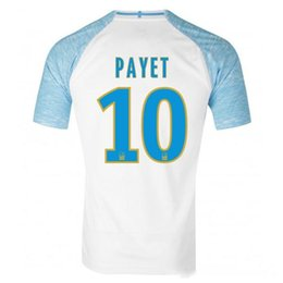 94d97088c Discount 18 19 Olympique De Marseille soccer jersey PAYET football shirt  THAUVIN GUSTAVO Camisetas GERMAIN CLINTON SANSON Marseille maillot