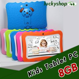"""inch kids tablet pc android 2019 - 100X Hot Kids Brand Tablet PC 7"""" Quad Core children tablet Android 4.4 Allwinner A33 google player wifi big speaker"""