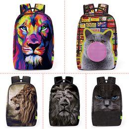 $enCountryForm.capitalKeyWord Canada - Wholesale 2017 3D Digital Printing Animals Backpack Men Women Sports Waterproof Mochilas Students School Bag For Girls Boys Travel Backpack