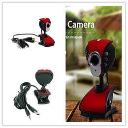 Discount microphone plugs - 6 LED USB 2.0 Webcam with Mic Microphone (Extra Plug), Clip and Adjustable Neck for Computer PC Laptop, Windows
