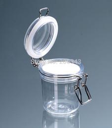 gel seal 2019 - 200G transparent cone shape plastic cream jar, sealing pot jar for cream gel facial scrup body scrub  mask cream contain
