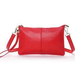 Genuine Leather Crossbody Handbags Wholesale UK - New Casual Small flap Handbags Women Genuine Leather Messenger Bags Ladies Party Clutches Women Crossbody Shoulder Evening Bags
