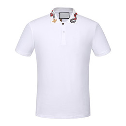 ingrosso camicia di polo medusa-Alta qualità brand new Luxury designer uomo Casual polo shirt magliette medusa mens polos High street ricamo serpente ape polo XL