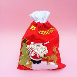 $enCountryForm.capitalKeyWord NZ - High-grade Flannel Santa Claus Christmas Candy Gift Bags Outdoor Christmas Shopping Drawstring Bag Christmas Home Decorations