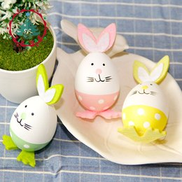 Wholesale DIY Plastic Painting Easter Rabbit Eggs Birthday Gift Drawing Craft Ornaments Children Learning And Education Toys yh W