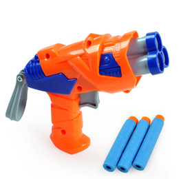 Wholesale guns safety for sale - Group buy Children Toy Guns Boy Favorate Millitary Model Toy New Soft Bullet Safety harmless for Kid Birthday Gift Party Collecting Decoration