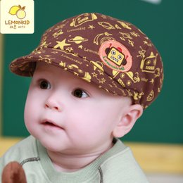 Discount beret breathable - 2017 new cute childrens adjustable beret spring and autumn outdoor sun breathable bone side hat cap hat