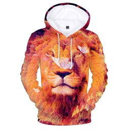 $enCountryForm.capitalKeyWord Australia - Funny Lion 3D Sweatshirts Men Women Hoodies Unisex Cool Printed Tracksuits Casual Pullover Hip Hop Hooded Jacket Fashion Outwear