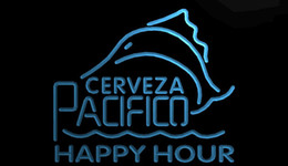 Discount pacifico neon signs LS1280-b-Cerveza-Pacifico-Beer-Happy-Hour-Bar-Neon-Sign Decor Free Shipping Dropshipping Wholesale 8 colors to choose