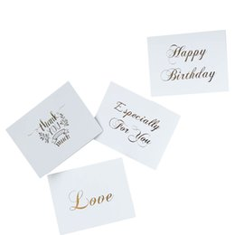$enCountryForm.capitalKeyWord UK - 50pcs pack White bronzing gift decoration card Mini thank you Card Scrapbooking party invitation DIY Deco Wedding Supplies