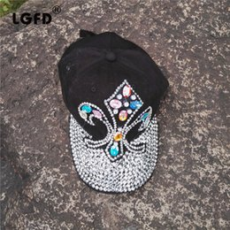 Man Made Diamonds Australia - 2016D54 cotton bling bling Rhinestone man made diamond anchor hat baseball caps for women