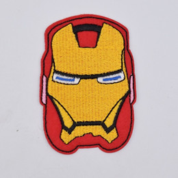 mark bags UK - Iron Man Mark Helmet Embroidery Patches Comic The Avengers Tony Stark Movie Sew Iron On Applique Patch Badge DIY Apparel Jeans Jacket Bag
