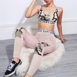 ad7d843c5446e Tracksuit Women 2 Piece Pink Yoga Set Print Women Bra+Long Yoga Pants Sport  suit For Fitness Sport Suit Sportswear