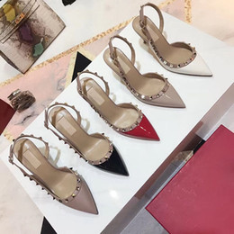 $enCountryForm.capitalKeyWord NZ - 2019high quality Latest hot ladies rivet high heel Sandals summer shoes designer fashion personality with heel height 9cm size 34-42