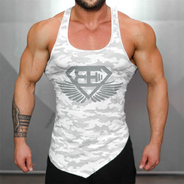 10b70a7760db58 V neck undershirts wholesale online shopping - Hot Body engineers  Camouflage Bodybuilding Men s Tank Top