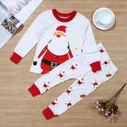 e2682ffff5b9 2pcs Baby Girl Boy Clothes Christmas Santa Long Sleeve T-Shirt+Long Pants  toddler Girl Clothing New Year's costumes for boy girl