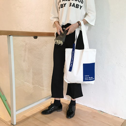 $enCountryForm.capitalKeyWord Australia - Raged Sheep Fashion Cotton Grocery Tote Shopping Bags Letter Fashion Women Hight Simple Design Healthy Tote Hand Bag