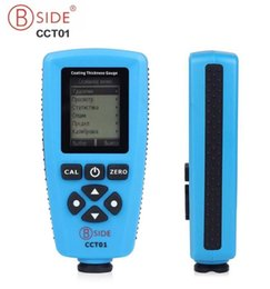 coating thickness tester NZ - Russian Edition BSIDE CCT01 Digital Thickness Gauge Coating Meter AUTO Thickness Meter Tester Magnetic Eddy Current Probe Gauge