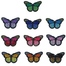 871963188 10 colores parches bordados de la mariposa de hierro de costura en bordado  insignias para bolsa de pantalones vaqueros sombrero camiseta apliques de  ...