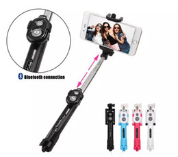China Handheld mini Tripod Phone selfie stick Bluetooth Shutter Remote Controller Foldable Wireless for iPhone Selfie Stick Free Shipping LLFA suppliers