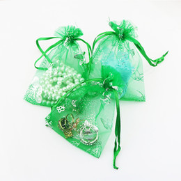 $enCountryForm.capitalKeyWord UK - 13*18cm Wholesale 200PCS lot High Quality Organza Bag Butterfly Design Wedding Pouches Jewelry Packaging Bags Gift Pouches
