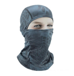 Airsoft Full Face Masks Wholesale UK - Wholesale-5 Color Tight Camo Balaclava Tactical Airsoft Hunting Outdoor Paintball Motorcycle Ski Cycling Protection Full Face Mask