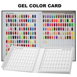 Nail book display online shopping - 216 Colors Model Nail Gel Polish Color Display Box Book Dedicated White Nail Gel Polish Display Card Chart with Tips
