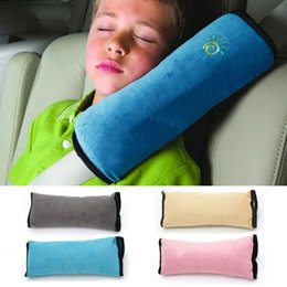 toddler safety belt 2018 - Baby Pillow Pad Car Auto Safety Seat Shoulder Belt Harness Protector Anti Roll Pad Sleep Pillow For Kids Toddler Hot dis
