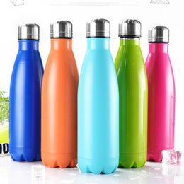 cf4b10ff7 Cola Shaped Water Bottle 350ml 500ml Stainless Steel Vacuum Flask Outdoor  Portable Thermos Bicycle Kids Cups 50pcs OOA5821