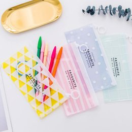 $enCountryForm.capitalKeyWord Canada - pencil bags korean stationery cute transparent waterproof PVC students pencil cases storage organizer pen bags pouch school office supply