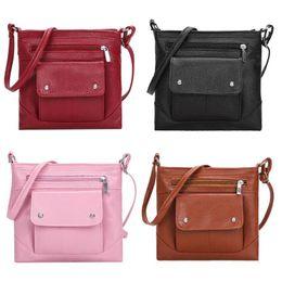 $enCountryForm.capitalKeyWord NZ - Small Crossbody Bags Casual Tote Messenger Handbag PU Leather Sling Shoulder Bags Satchel Bag bolsos mujer