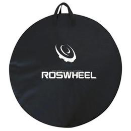 Vente en gros ROSWHEEL 1pc Sac de transport de roue de vélo Mountain Road Bike Sac de roue de VTT ensemble Transporteur Pounch Carrier nouveau