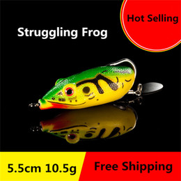 $enCountryForm.capitalKeyWord NZ - New Soft Ray Strling Frog Single hook Spinnerbaits 5.5cm 10.5g Bionic Frog Snakehend False Laser Fishing Lure