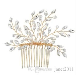 $enCountryForm.capitalKeyWord Australia - Gorgeous Party Wedding Hair Comb - Gold Silver Tone Delicated Bridemaid & Flower Girls Head Piece Hair Accessories