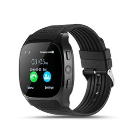 China T8 Bluetooth Smart Watch With Sim Card Slot Camera Alarm Clock 6261D 260MHz 240mah Battery For IOS Android Smartwatch cheap alarm sim suppliers