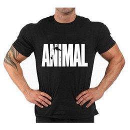 Animal Gym Uomo T Shirt Stringer Bodybuilding Vest Fitness Uomo Manica corta Camicia Sportiva Abbigliamento sportivo T-shirt MCT033 in Offerta