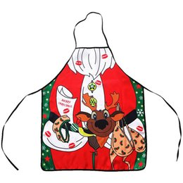 Dinner Party Accessories NZ - Christmas Decoration Waterproof Apron Kitchen Aprons for Adults Dinner Party Cooking Apron Kitchen Accessories New Year Supplies