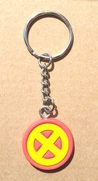 Discount girls led light ring Hot Captain America super heroes New Arrival Daredevil Keychain Plastic Type Key Ring PVC Material Marvel Action