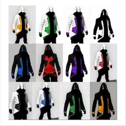 AssAssin clothes online shopping - Halloween Christmas Jacket Jacket Cosplay New Arrival Comic Creative Connor Game Clothes Assassin Creed color MMA719