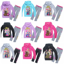 Girls hooded sweatshirts online shopping - jojo siwa baby girls tracksuit cute girl autumn winter outfits long sleeve hooded sweatshirts pants children boutique clothes set