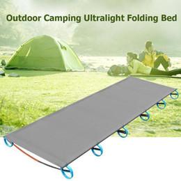 $enCountryForm.capitalKeyWord NZ - New Portable Ultralight Aluminum Alloy Outdoor Camping Mat Travel Hiking Climbing Cot Sturdy Comfortable Folding Sleeping Bed