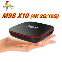 Android Set Top Box Quad NZ - Android 7.1 TV Box M9S X10 Bluetooth 64bit Quad Core 2G 16GB 4K H.265 1080P Video Streaming Android TV Boxes Set Top Box