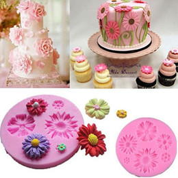 Sugar free cakeS online shopping - Silicone Mold Small Daisy Sugar Craft DIY Gumpaste Cake Decorating Clay Decoration Tools Sunflower Baking Moulds