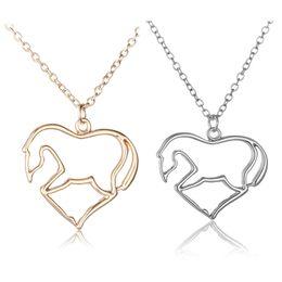 Shop chinese gold necklace pendant uk chinese gold necklace 12 chinese zodiac heart shaped pendants necklaces horse design chocker pendants necklaces jewelry animal pendants wholsale aloadofball Choice Image