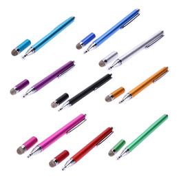 2 In 1 Benzersiz tasarım Kapasitif Kalem Dokunmatik Ekran Çizim Kalem Stylus iPhone iPad Tablet PC için Akıllı Cep telefonu
