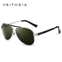 Veithdia glasses online shopping - VEITHDIA Brand Designer Polarizerd Sunglasses Men Glass Mirror Green Lense Vintage Sun Glasses Eyewear Accessories Oculos D18101302