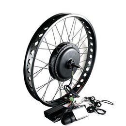 "Chinese  170mm 190mm Rear brushless Non Gear hub motor wheel 26"" 4.0 Tyre 48V Electric Fat Bike Conversion Kit Snow Bicycle kit 1000W manufacturers"